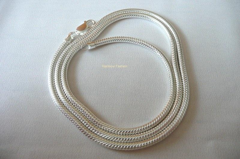 anklet length 2mm sterling silver 925 Italian SNAKE chain in necklace bracelet