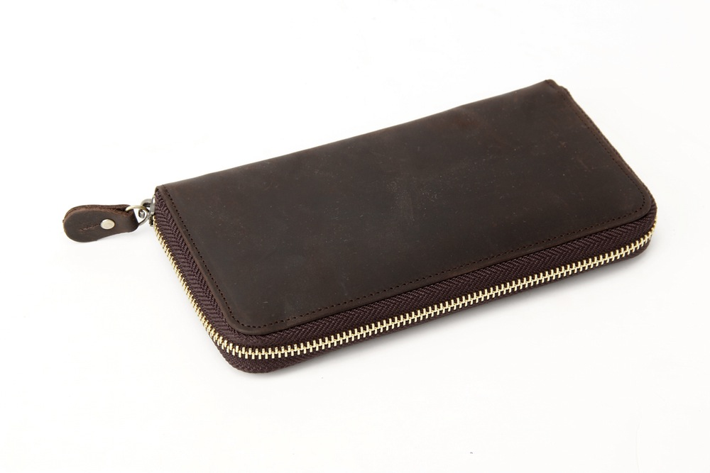 Genuine Leather Wallet Long Wallet Money Bag Men Purse B200 (36706431) photo