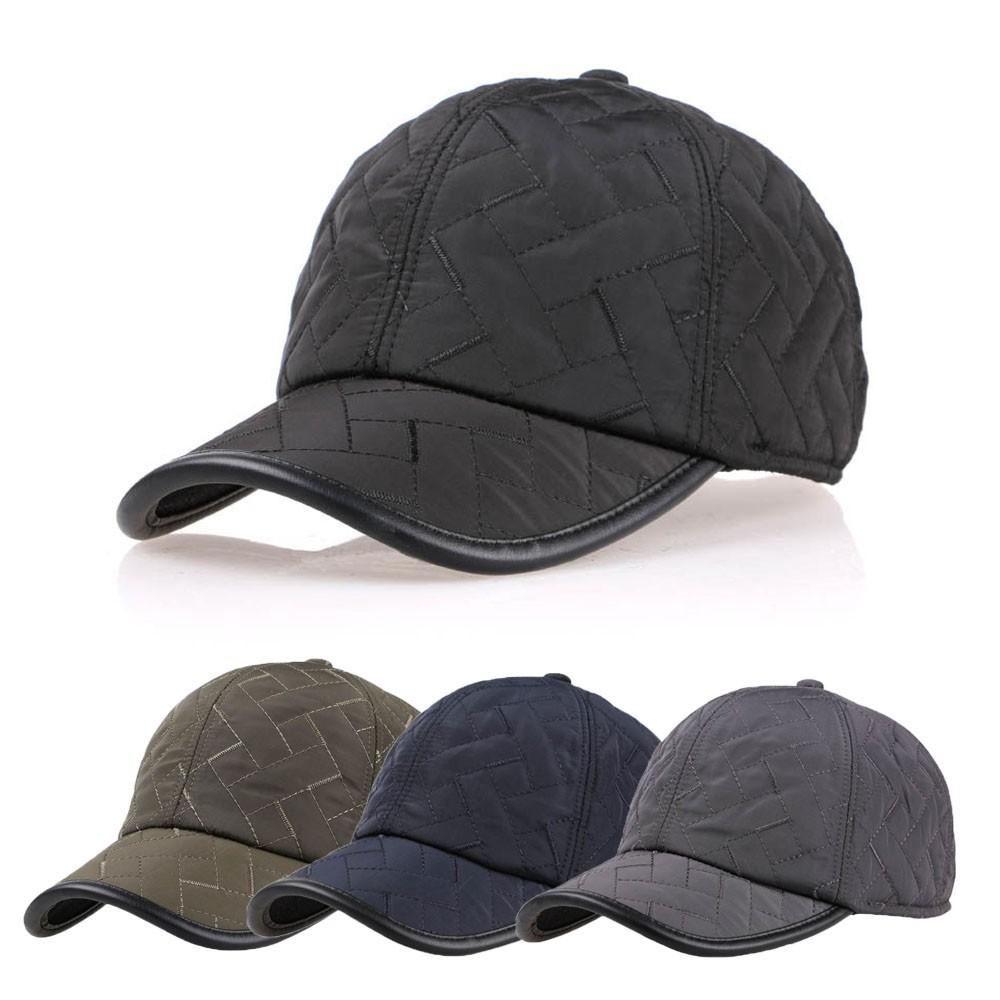 fea0f9402 Men Male Earflap Earmuffs Water Proof Baseball Cap Adjustable Blank Golf  Sport Outdoor Hat from badiroga