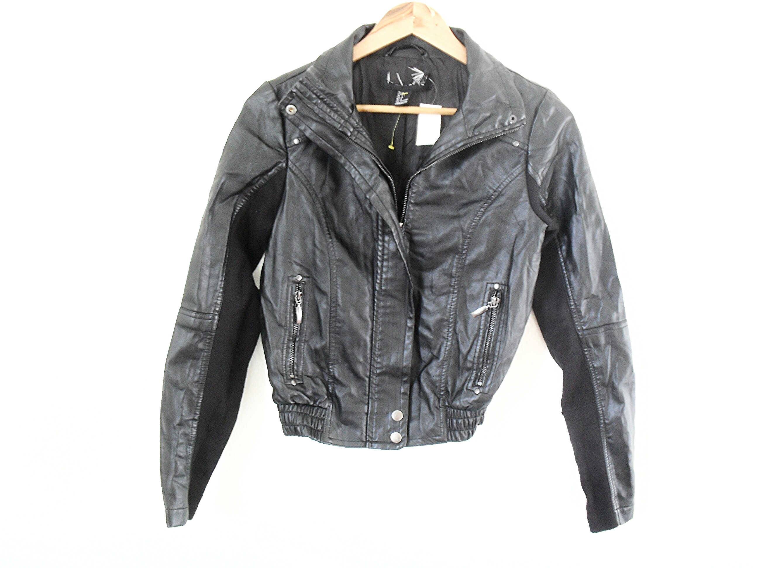 e753c0420 BNWT Forever 21 Black Leather Jacket from KLEXA