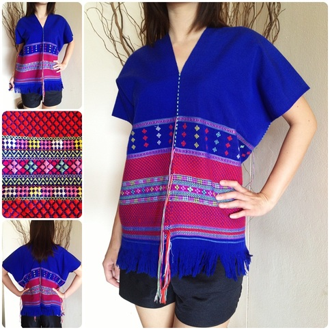 Blue With Mid Purple Line Shirt By Karen Hill Tribe