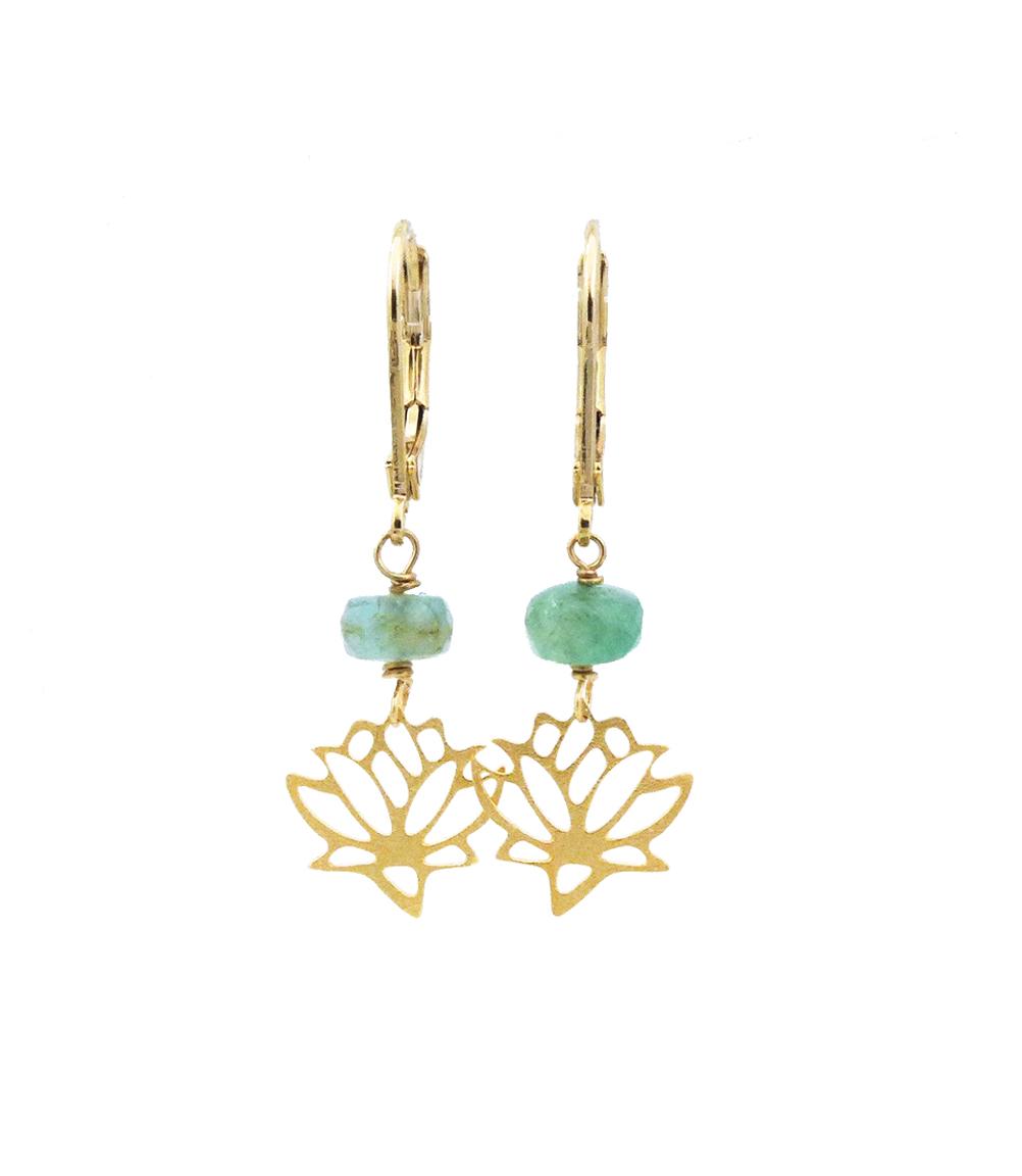 Lotus Flower Earrings Tocca Jewelry Handmade Gemstone And Druzy Jewelry