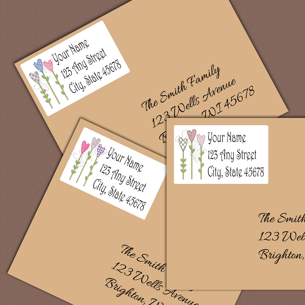 Personalized return address label address labels address stickers custom labels custom gift tags flower stickers from paper ornamentals