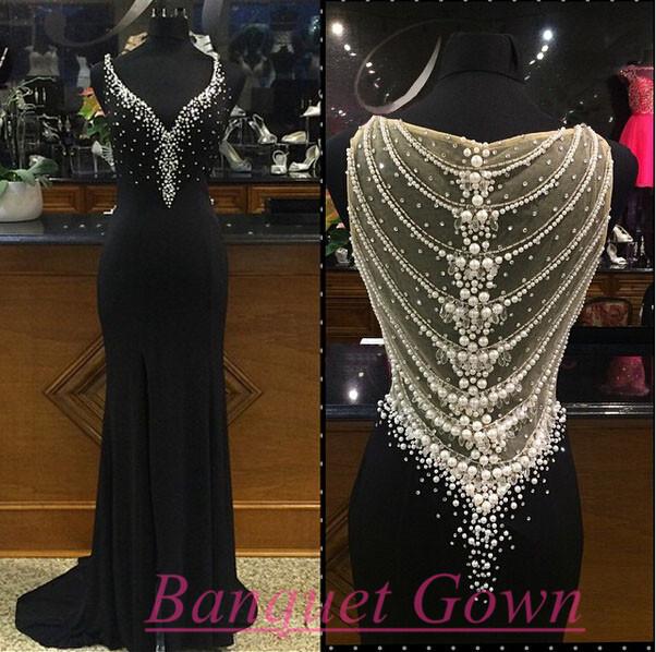New Design Beading Charming Prom Dresses,Elegant Evening Dresses ...