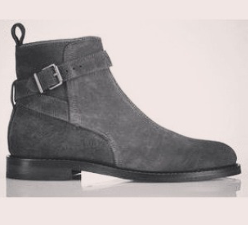 c970691f812 Handmade men Jodhpur suede leather boots, mens gray fashion ankle high boots  - Thumbnail 1 ...