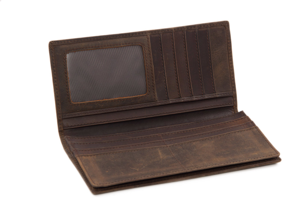 Genuine Leather Wallet Money Purse Men's Long Wallet B196-1 (37349097) photo