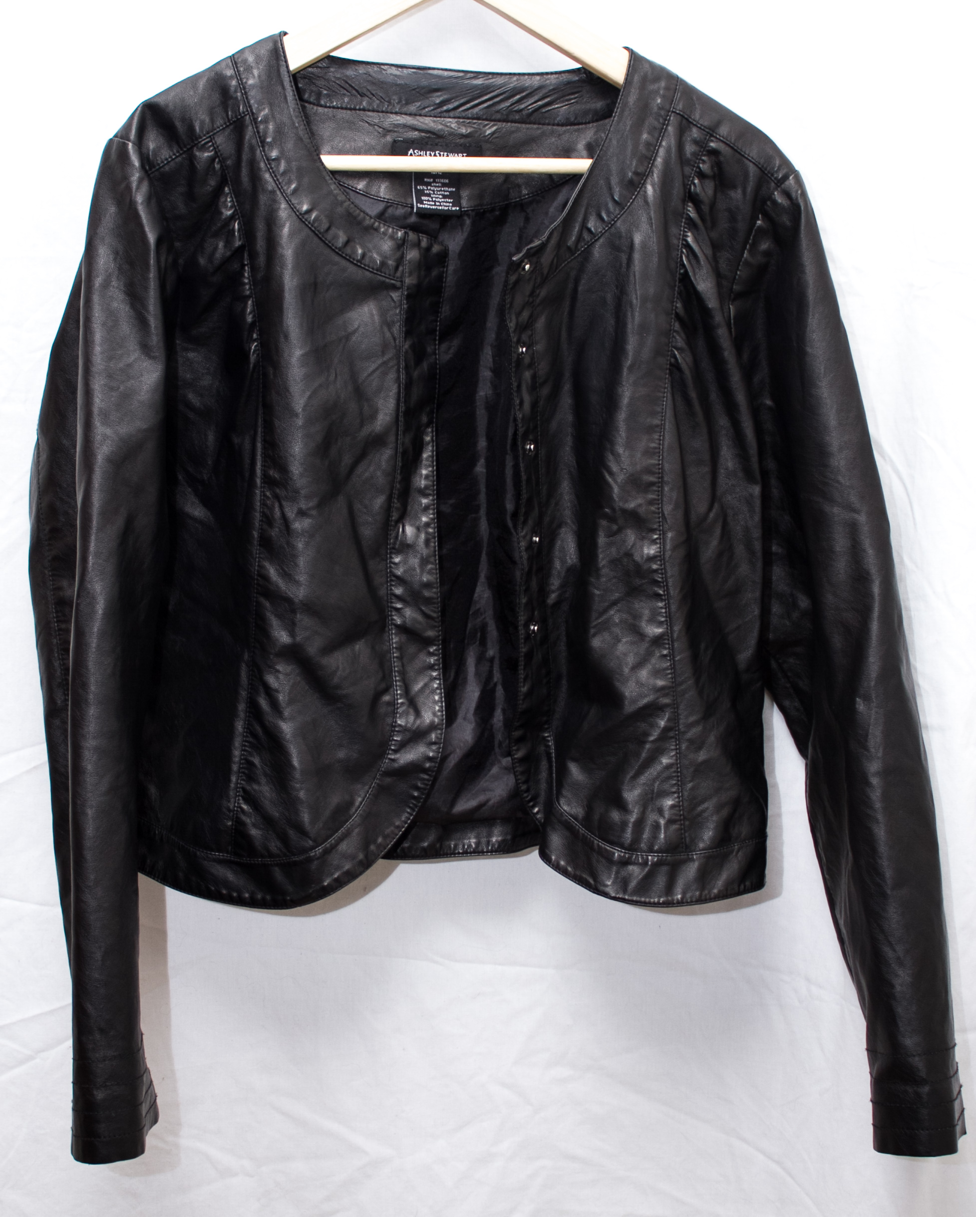0b47f7f9dc04f Ashley Stewart Faux Leather Jacket from Emmas Boutique