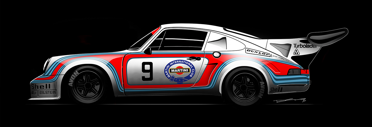 martini racing porsche 911 rsr turbo sideview 20 piece limited run dsalnidrawn online. Black Bedroom Furniture Sets. Home Design Ideas