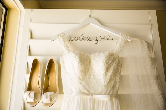 Wedding Dress Hanger.Personalized White Wedding Dress Hanger From Handcrafted Affairs