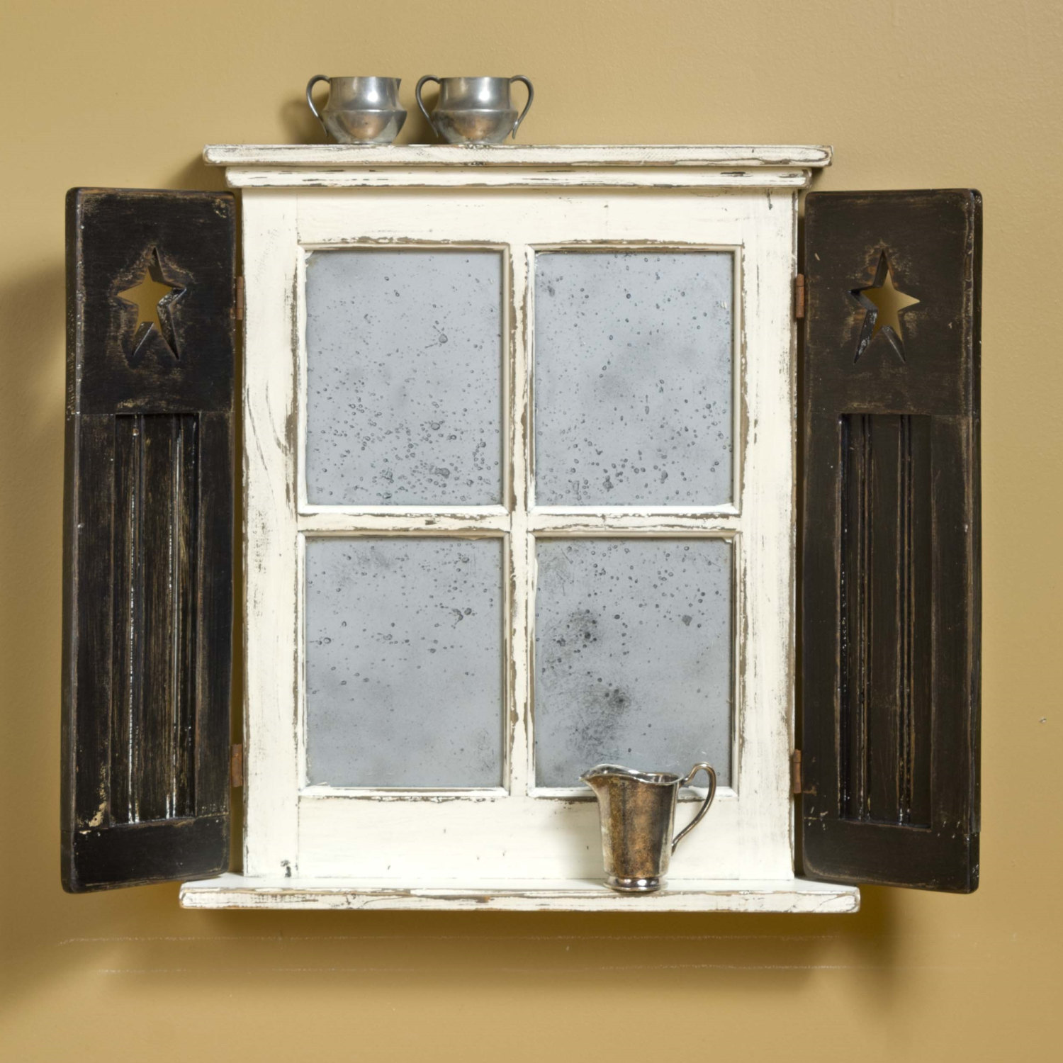 Primitive Architectural Window With Shutters Small