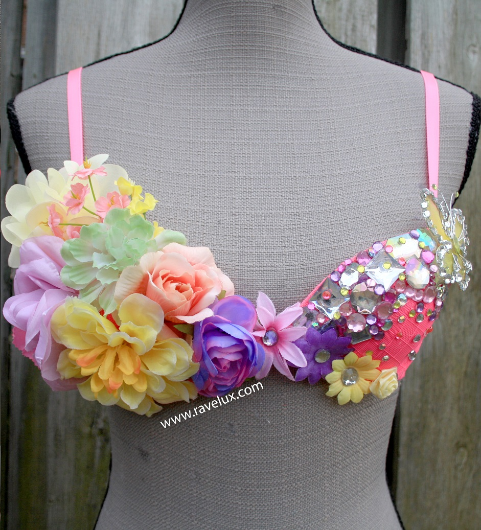 75fccba25b 32A Fairy Forest Rave Bra · RaveLux · Online Store Powered by Storenvy