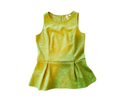 b1c3179e82c0f1 Tacera Peplum Top - Green on Storenvy