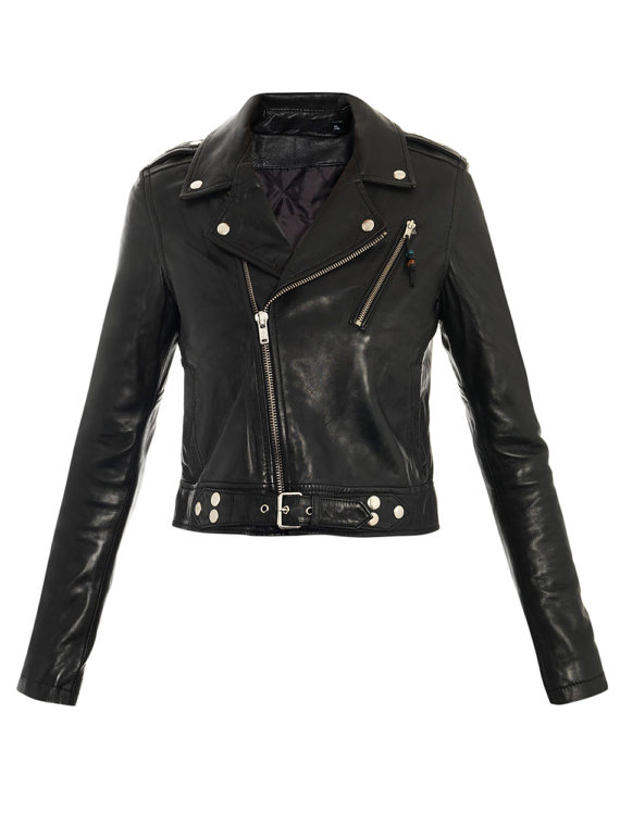 Black Leather Womens Jacket - Coat Nj