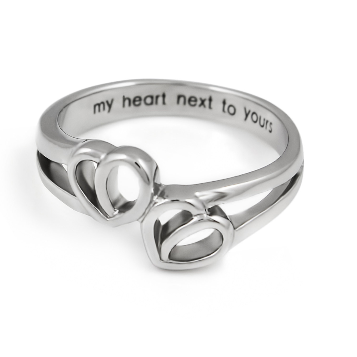 Promise Ring Double Hearts My Heart Next