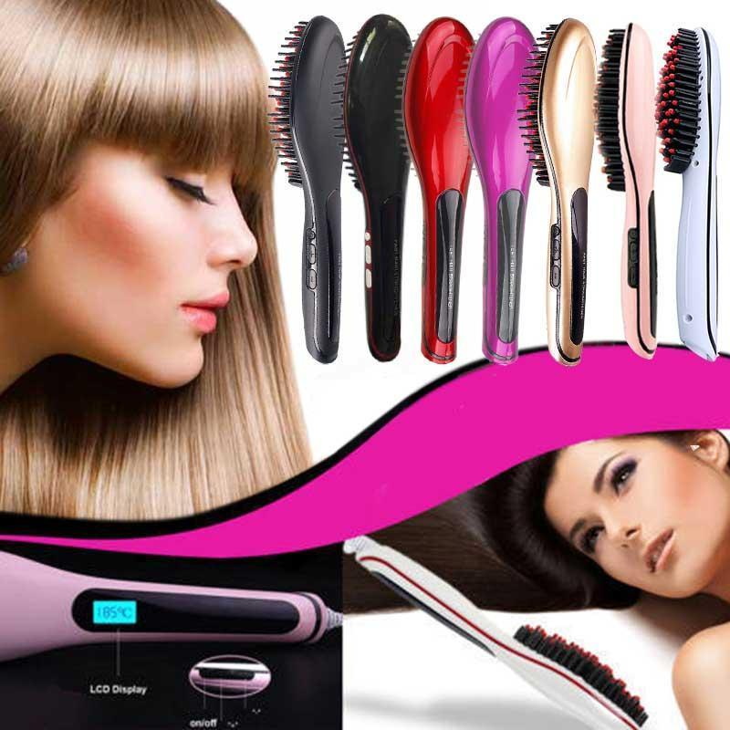 Hair Brush Straightener