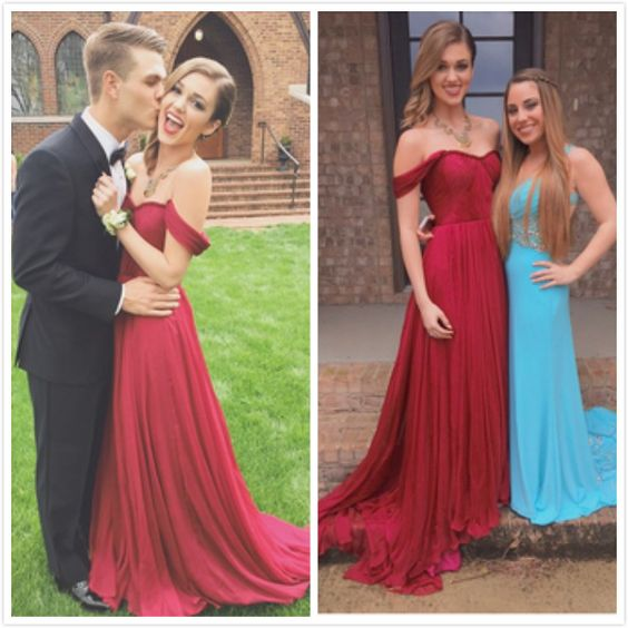 53e5f2d93b3 Shedress Off Shoulder Dark Red Long Prom Dresses