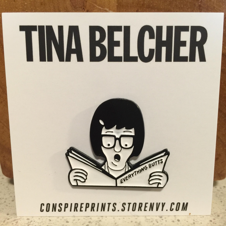 Tina Belcher x Descendents metal enamel lapel pin - Bob's Burgers ...