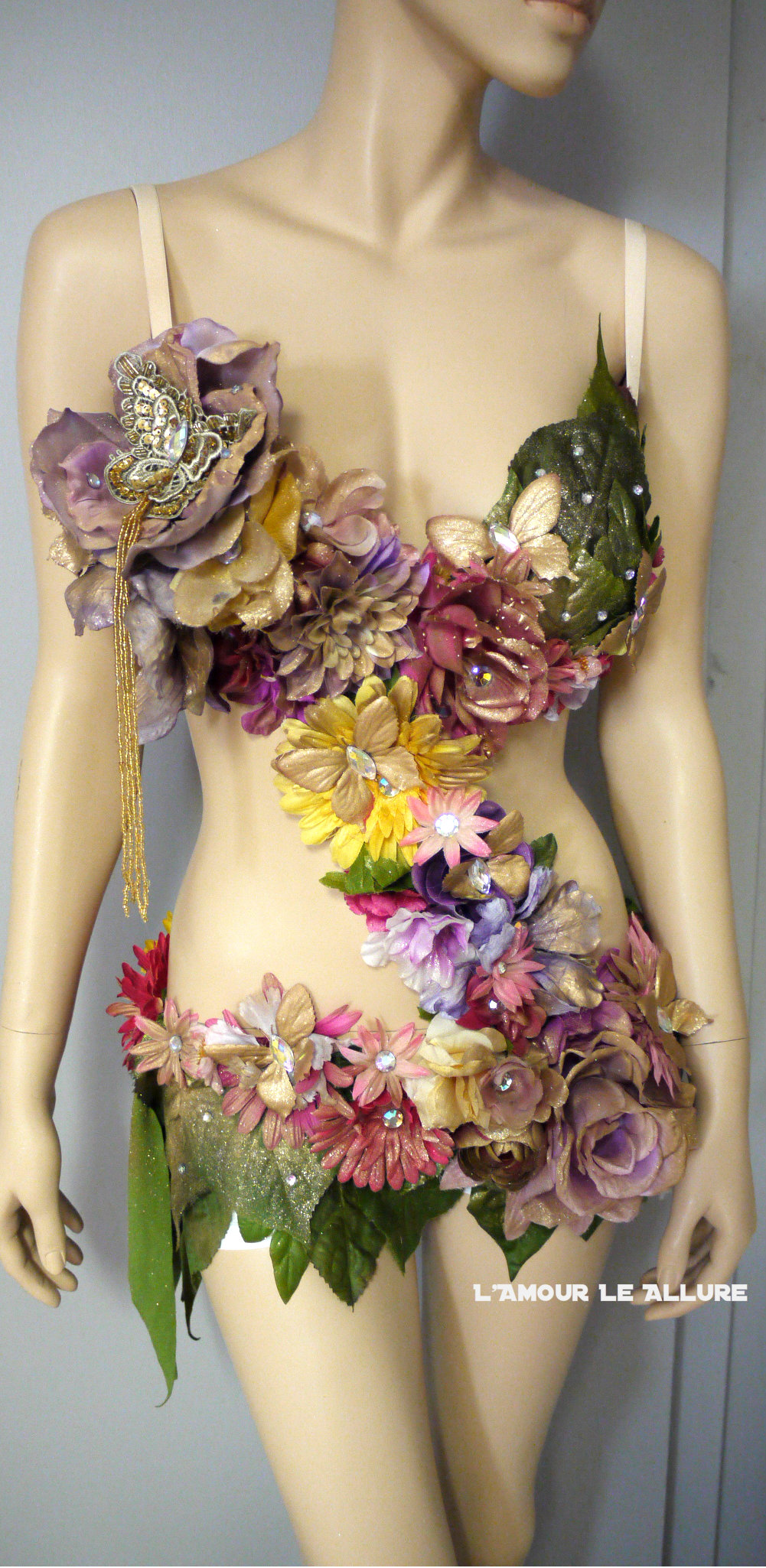 Pink Yellow Lavender and Gold Spring Fairy Monokini ...