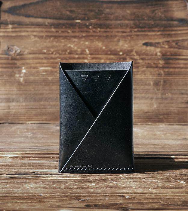 Leather card wallet handmade card holder folded card wallet card leather 20card 20wallet black p3280375 original colourmoves