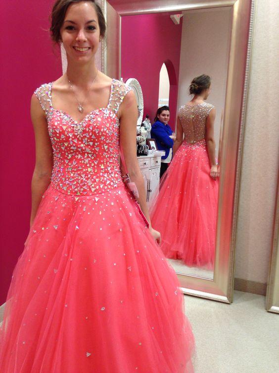 Sweetheart Prom Dresses,A-Line Prom Dresses,Crystal Prom Dresses ...