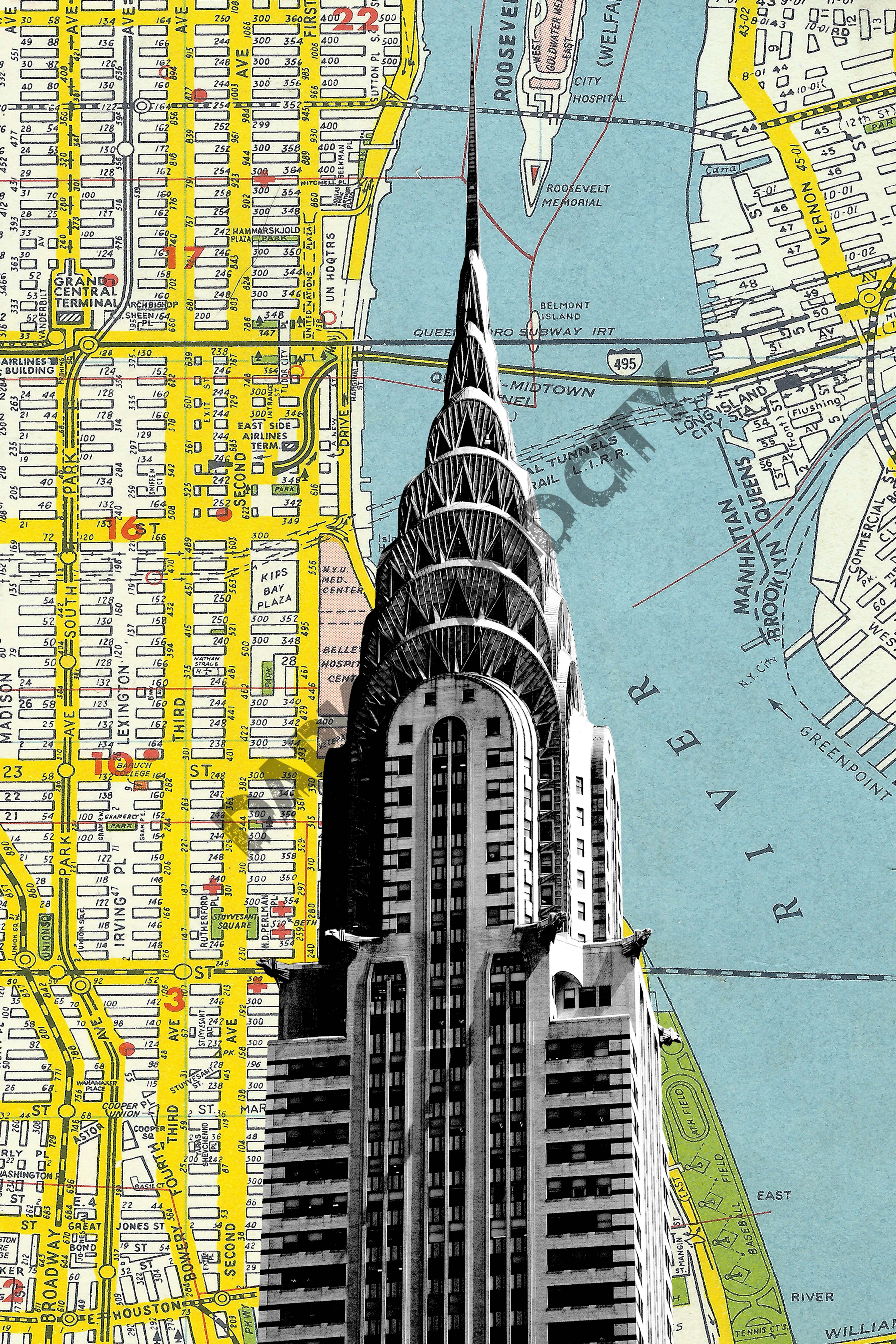 Chrysler Building Art Deco New York City Modern Mid