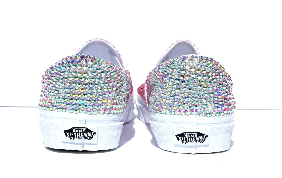 ea6892317e Pink Crystal Vans – Queen Bee – Crystal Vans – Pink Ombre Shoe on ...