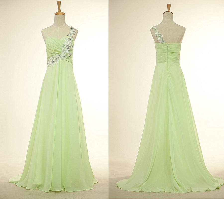 713fdce6971 One Shoulder Long Bridesmaid Dresses