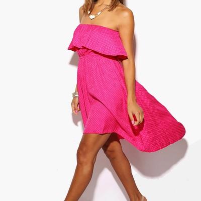 73b8b851 Silver Sequin Dress. $30.00 · Bold pink polka dot ruffle high low sundress  - Thumbnail 4