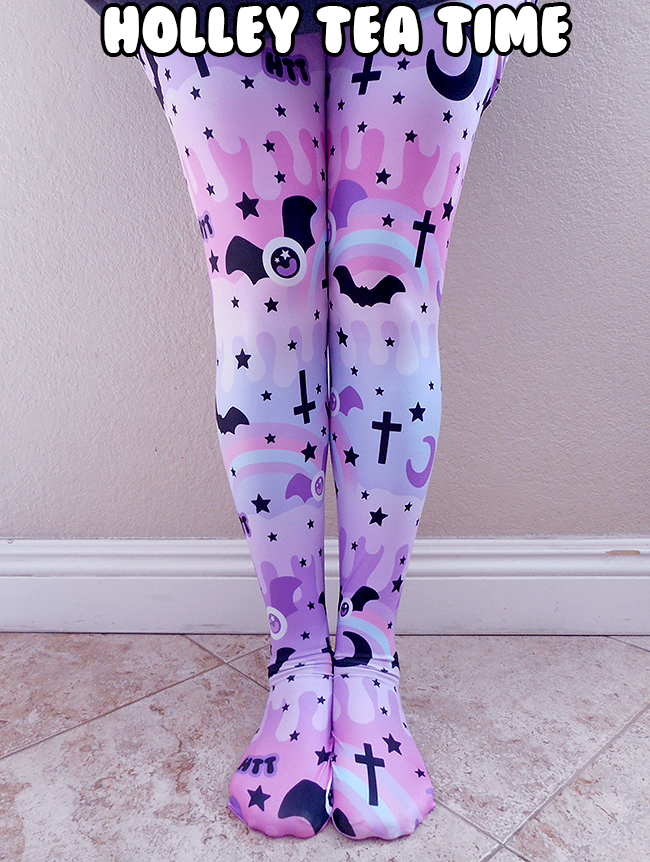 43c9545cd955fa ☆ Dripping Sky Tights ☆ MADE TO ORDER ☆ Pastel Goth ✧ Creepy Cute on  Storenvy