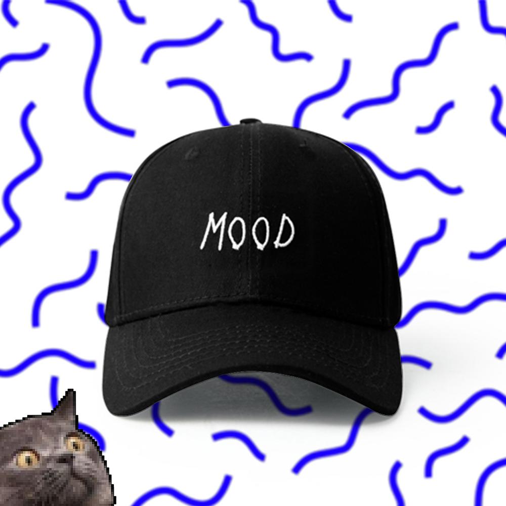bcab52e42de VAPORWAVE MOOD WORDING BASEBALL CAP IN BLACK · STORE CAT CAT ...