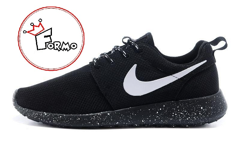 best loved 964ad a4999 Custom Nike Roshe Run Oreo athletic running shoes White Speckled on ...