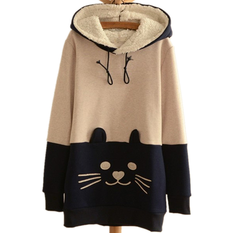 e0451e774a1 Lolita Cat Face Tail Hoodie on Storenvy