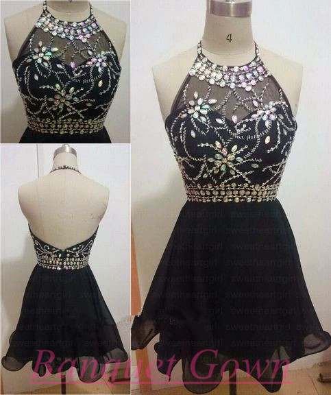 Simple Homecoming Dresses,Cute Short Prom Dresses,Black Prom Gowns ...