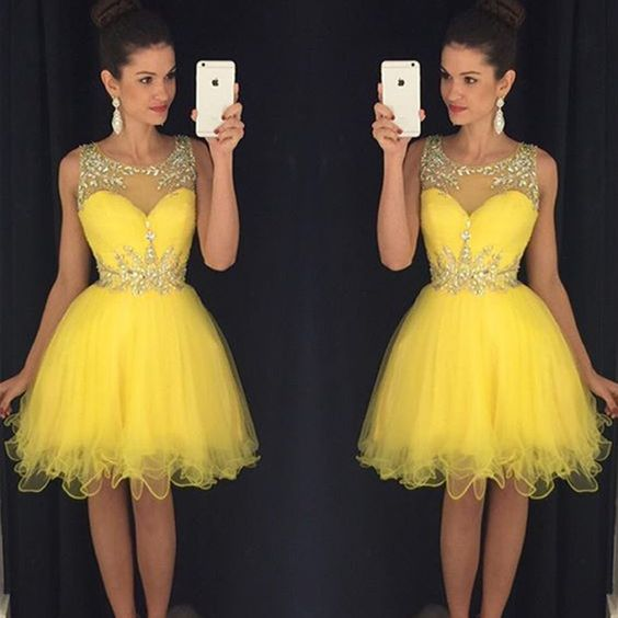 3a6b40be Beauty Short Beading Sparkly Homecoming Dresses For Teens on Storenvy