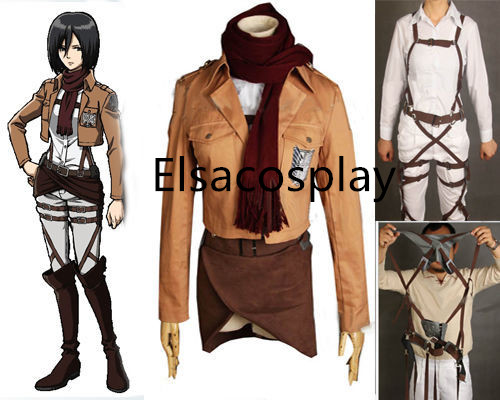 Mikasa Ackerman Custom Cosplay Costume Outfit Attack On Titan Costume Sold By Elsacosplay
