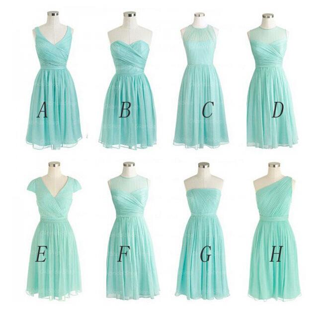 9e3ce59acb40 Tiffany blue bridesmaid dresses