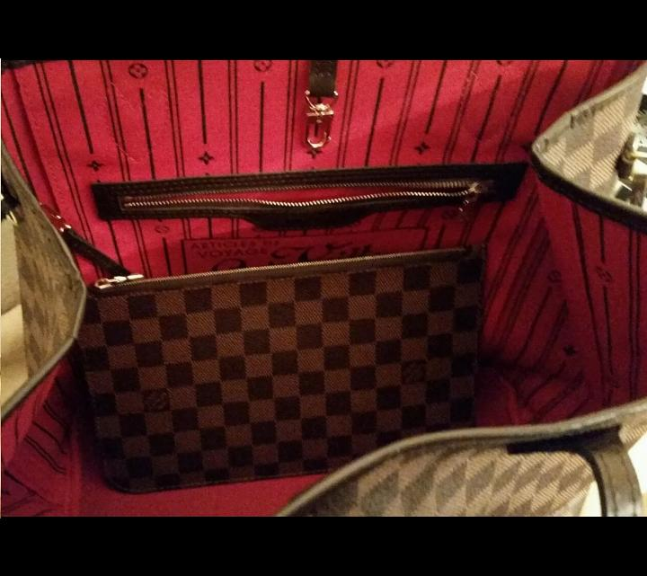 78fc3432114a Louis Vuitton Ebene Neverfull MM Tote Bag w pochette on Storenvy