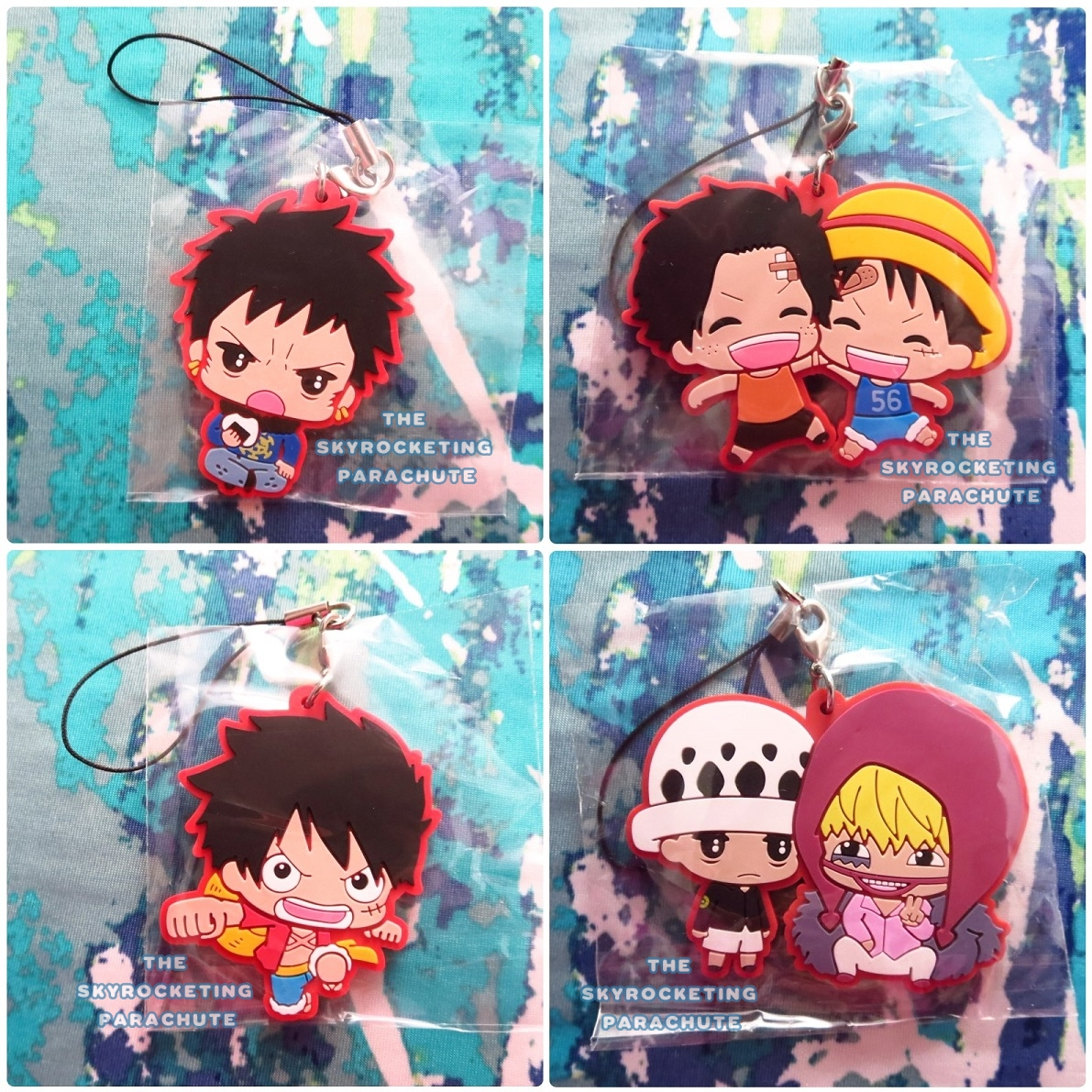 One Piece Rubber Strap C2 Trafalgar Law Corazon Monkey D Luffy Ace Sabo Shanks Bepo Marco