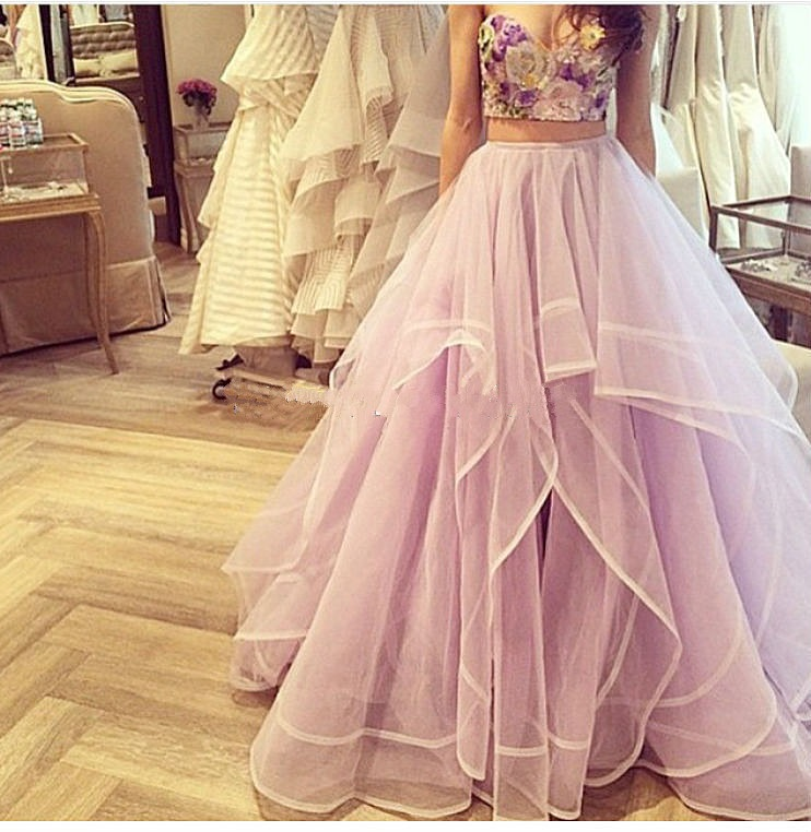 Ulass Prom Dresses Two Piece Prom Dress Sweetheart Prom Dresses ...