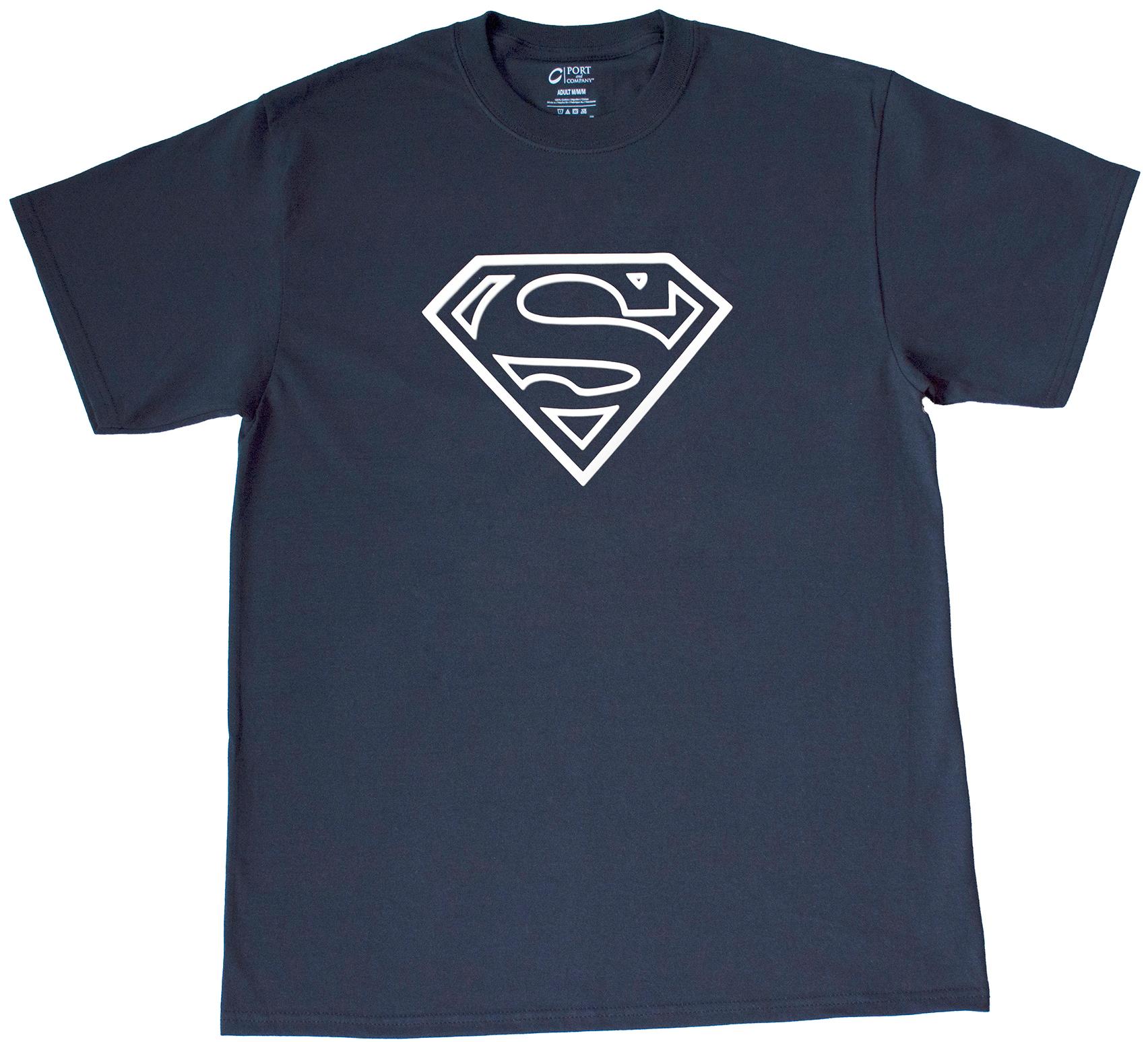 Ideal Superman Logo Shield T-Shirt · Top Notch Custom Apparel · Online  FT23