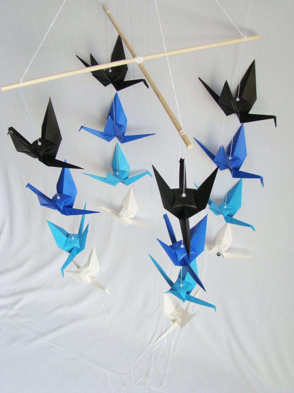 Schema Of Origami Mobile Crane 3