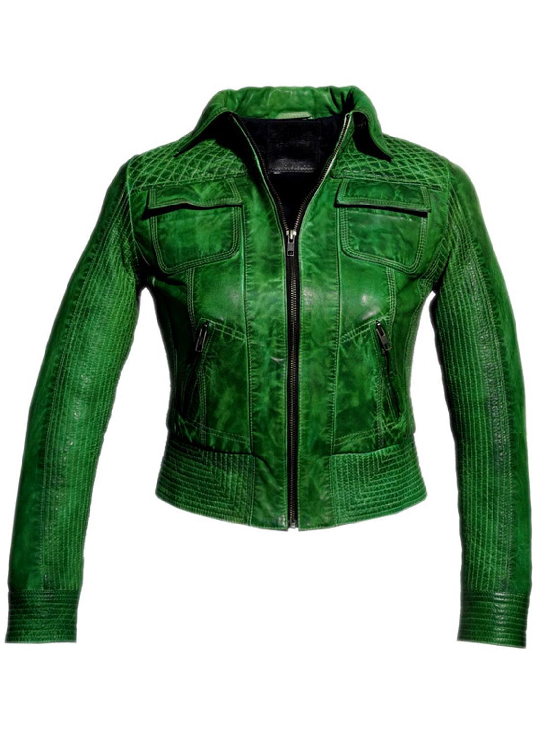 f802c402dd Hand padded vintage Short leather biker jacket on Storenvy