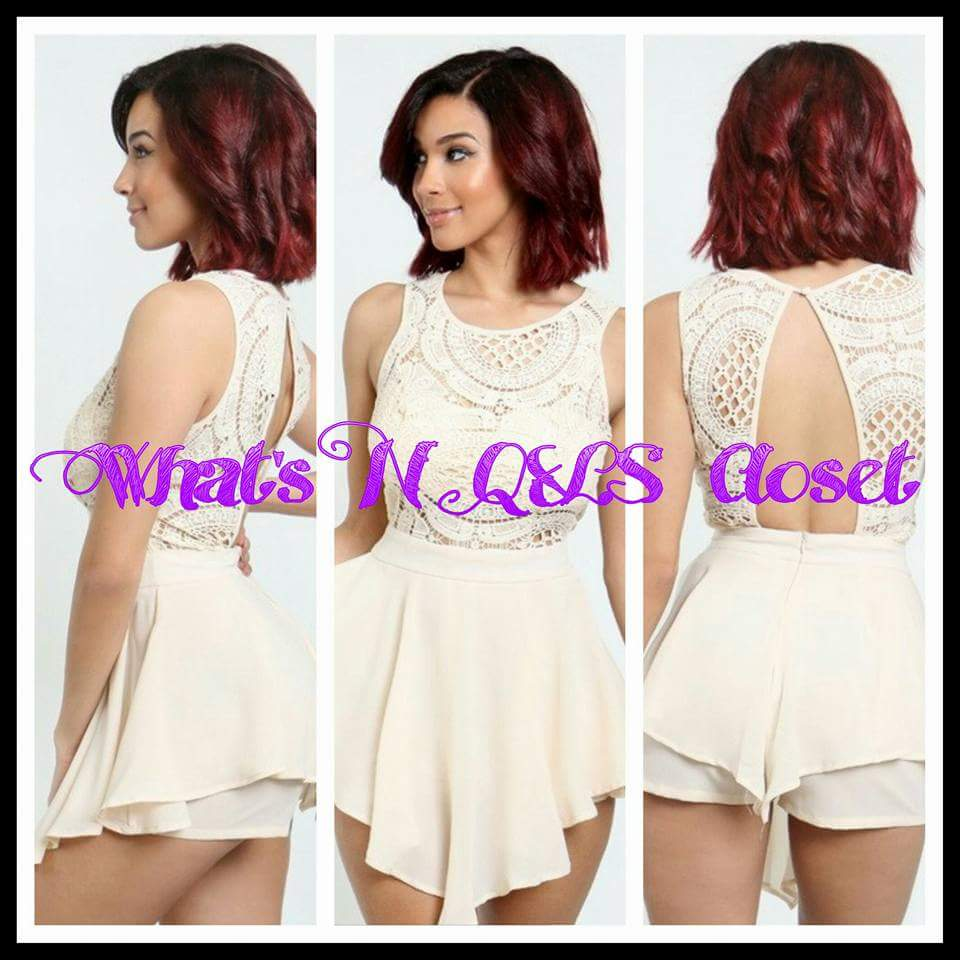 451f43c8afd4a Sleeveless Rumper with lace top