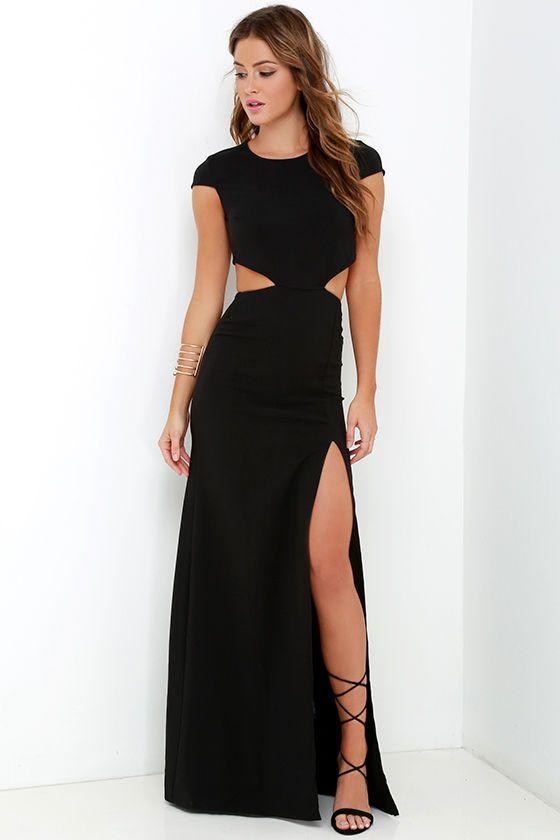 Slit Prom Dresssexy Evening Dressblack Prom Gownssplit Prom