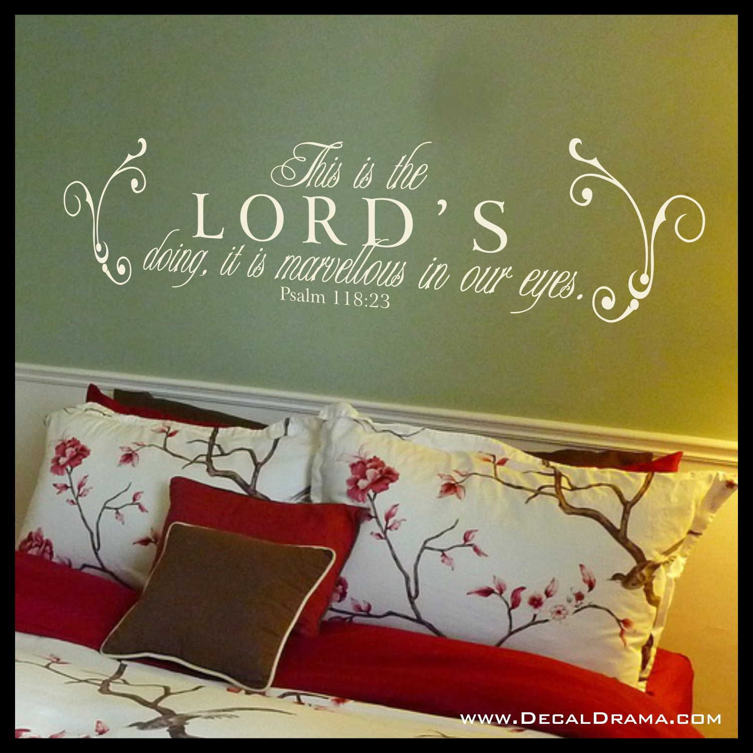 This Is The LORDs Doing It Is Marvellous In Our Eyes Psalm - Wall decals quotes bible