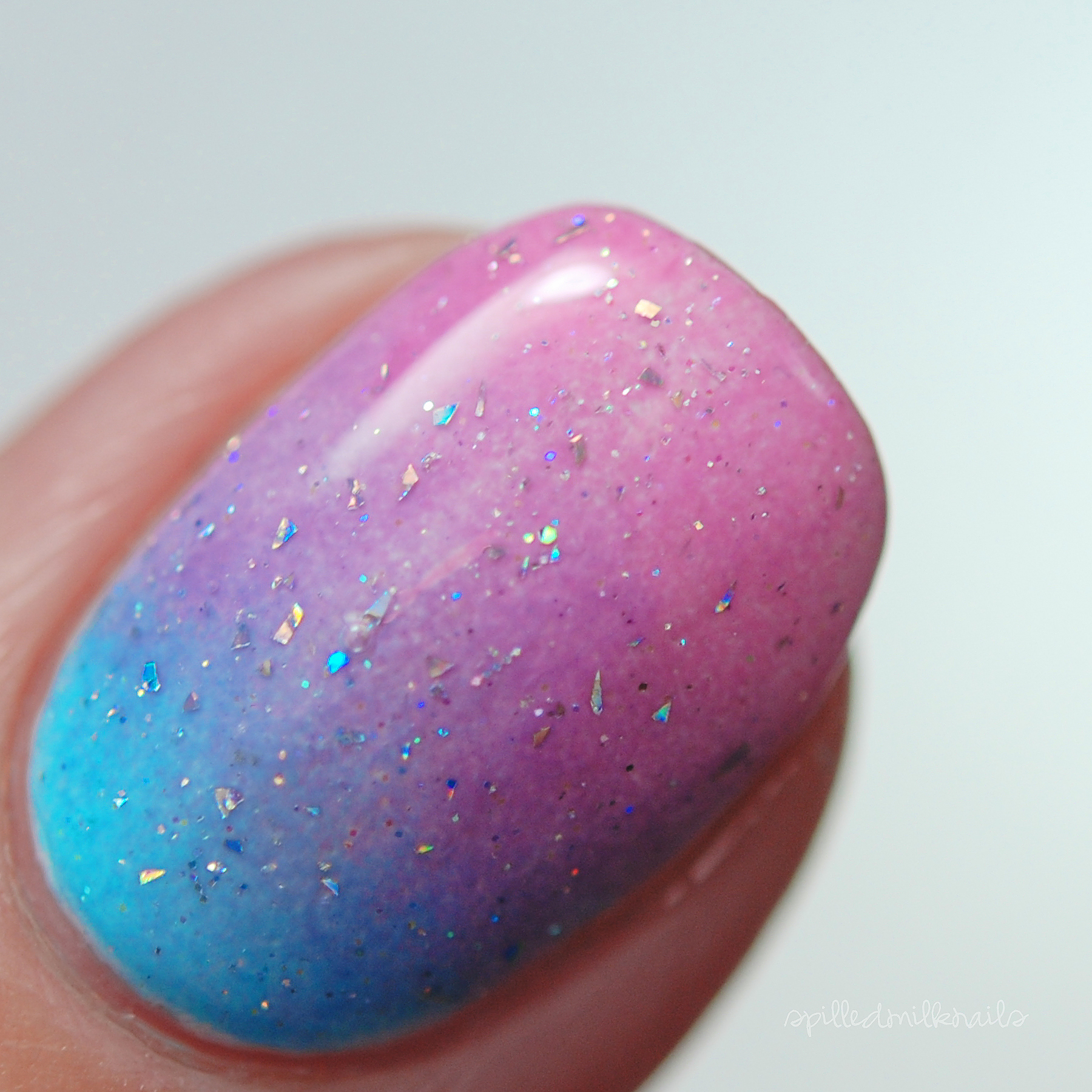 Comet - Custom Galaxy Holographic Flakey Glitter Topper Nail Polish ...