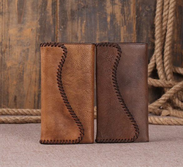 Handmade Wallets Genuine Leather Wallet for Women Leather Female Wallets Leather Purses (46475127 J.H. Leather Studio) photo