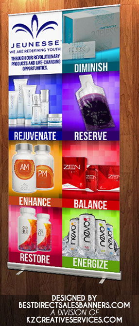 Image of JEUNESSE - RETRACTABLE BANNER 4
