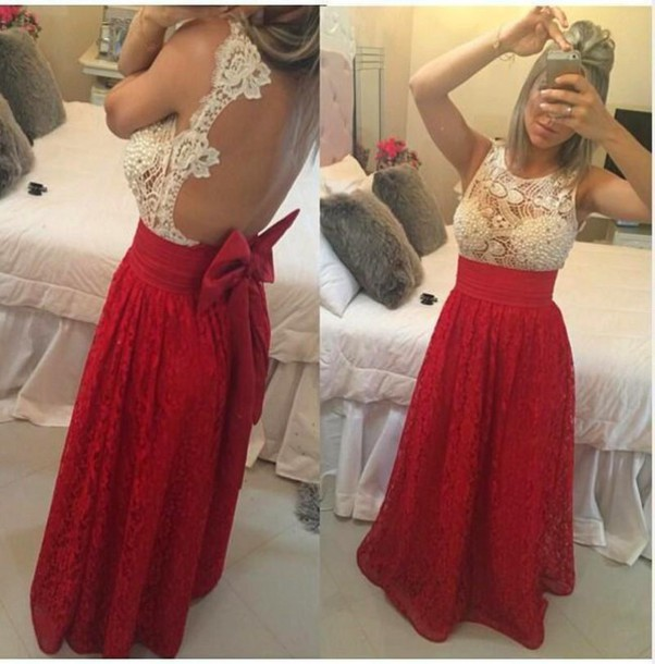 7de3f3e0896 Lace prom dresses