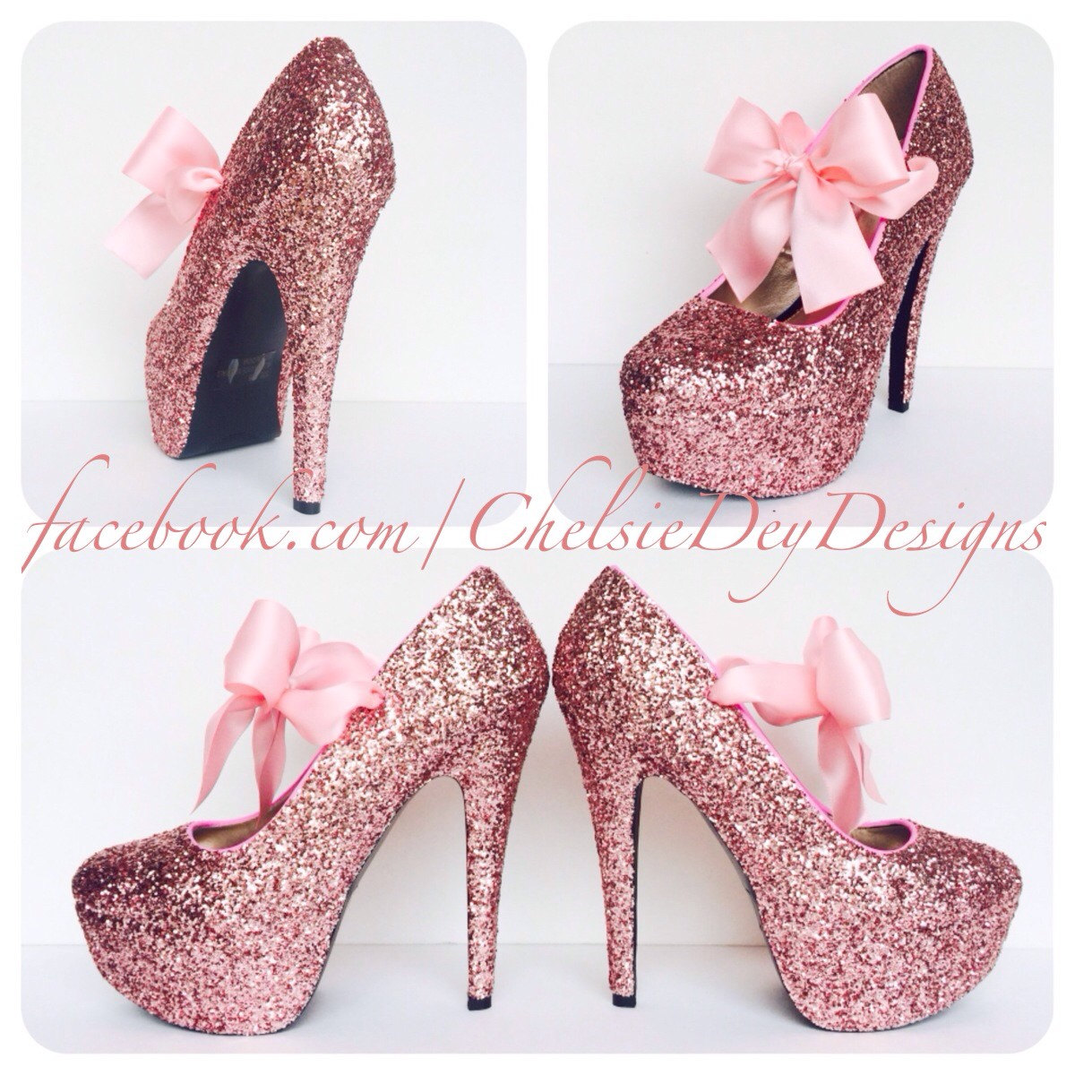 Glitzy Pumps Satin Pink Shoes Light Glitter High Heels Wedding Bubblegum Platform Bows I2HE9WDY